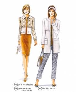 302-02 formal wear pattern jacket coat