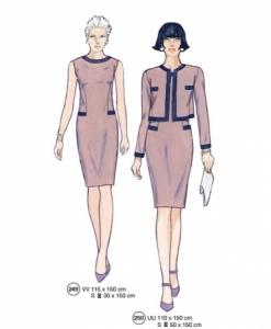 302-04 chic pattern jacket dress