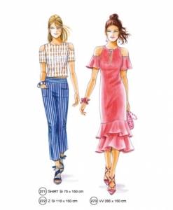 302-13 fashionable dress pattern