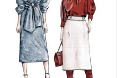 316- dress top skirt